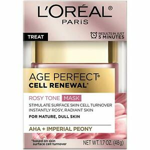 L'Oreal Age Perfect Cell Renewal Rosy Tone Mask For Mature, Dull Skin
