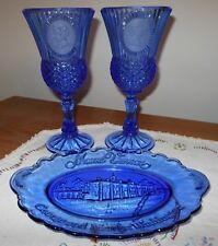 Avon Mount Vernon Soap Dish with George & Martha Washington Goblet Candle Holder