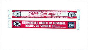 ANTI-HOENEß-Schal  FANSCHAL - SOOO SAN MIA - Anti-Bayern ANTI BAYERN SEIDENSCHAL