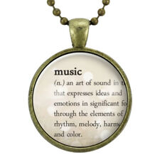 Music Necklace, Dictionary Definition Jewelry, Homemade Pendant