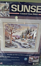 "Sunset Counted Cross Stitch "" Winter Outing"" New Unopened Package"