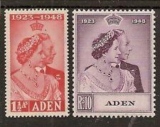 ADEN 1949 ROYAL SILVER WEDDING SG30/31 MNH