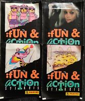 Panini 1991 Fun & Action Stickers , 40 packets (Vintage)