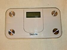 Taylor Glass Digital Mini 350lb Compact Spacesaver Bath Bathroom Lithium Scale