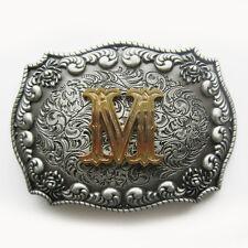 Original Western Initial Letter M Belt Buckle Gurtelschnalle also Stock in US