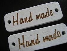 20 Piezas HECHO A MANO botón de madera/Botones ETIQUETA PLACA 3 cm/30 mm