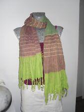 foulard ethnique voile châle étole écharpe bobo bohème hippie femme fils doré