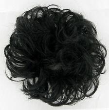 extension bollo en el cabello coletero rizado negro 17/1b