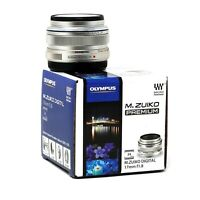 Olympus M.Zuiko Digital 17mm f/1.8 Lens (Silver) UK NEXT DAY DELIVERY