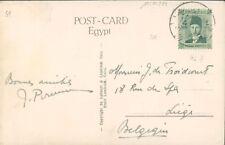 EGYPT PC to Belgium Continental hotel cancel. 1939