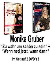 2 DVDs * MONIKA GRUBER - WENN NED JETZT ... / ZU WAHR UM SCHÖN ZU SEIN IM SET %