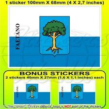 FAETANO Castello Flagge SAN MARINO Fahne sticker, aufkleber 100mm x1+2 Bonus