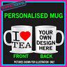 I LOVE HEART TEA COFFEE MUG GIFT