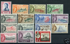TURKS & CAICOS ISLANDS 1957-60 STAMPS SCOTT #121-35