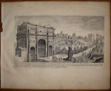 stampa antica Aegidius Sadeler 1606 arco costantino roma duperac old print