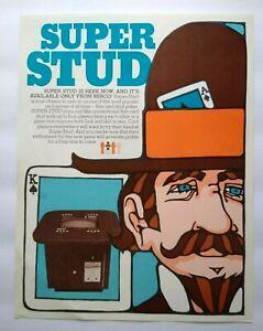 Micro Games Super Stud Arcade FLYER Original 1977 Video Game Paper Art Sheet