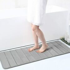 "New ListingSoft Memory Foam Bath Mats Bathroom Rugs Anti Slip Absorbent 63"" x 20"""