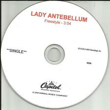 LADY ANTEBELLUM Freestyle RARE TST PRESS PROMO Radio DJ CD single 2014 USA MINT