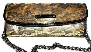 BETSEY JOHNSON Gold/Black Lace Purse Shoulder bag  Clutch NWOT