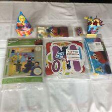 SESAME STREET Decorations~7 Items~HAPPY BIRTHDAY Party Kit