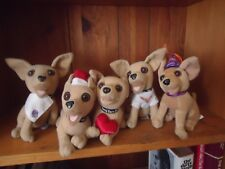 Lot of 5 Taco Bell Dogs Chihuahua (they no longer talk)