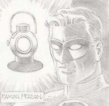 Signed Ramona Fradon Original JLA Super Friends Comic Art Sketch ~ Green Lantern