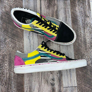 Vans Old Skool Juxtapoze Multicolor Sneakers Mens Size 10.5