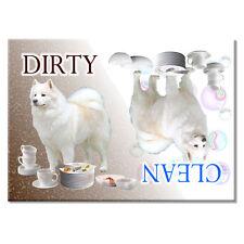Samoyed Clean Dirty Dishwasher Magnet Dog