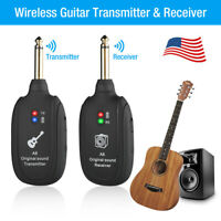 Guitar Wireless System Transmitter & Receiver Kits & Rechargeable Battery New
