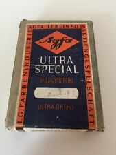 Vintage AGFA ULTRA SPECIAL PLATTEN ULTRA ORTHO 12 Total