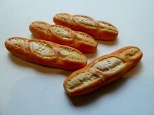 DOLLS HOUSE MINIATURE FOOD 1:12 * 4 X LARGE FRENCH BREAD STICKS * COMBINED P+P