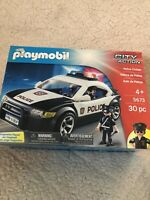 New Playmobil Playset City Action Police Cruiser Flashing Lights Model 5673