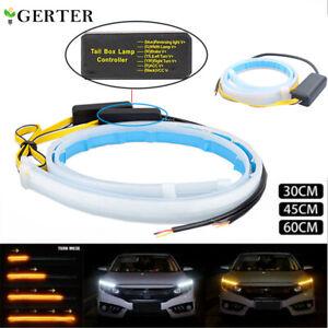 2X LED Blinker Dynamische Streifen Auto DRL Scheinwerfer Tagfahrlicht Lampe DE
