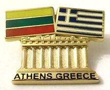 Pin Spilla Olimpiadi Athens 2004 Greece/Lithuania Flags