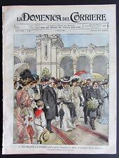 1906 EXPO MILANO REGINA MARGHERITA Turbigo bersaglieri ciclisti FIESOLE Messina