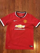 Used Nike Manchester United Soccer Jersey Youth L Large
