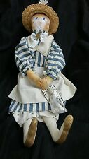"Vintage Handmade Art Moonlight & Roses ""Claire Cat"" Doll Marta E. Peters"