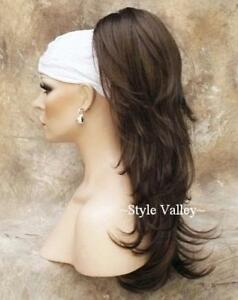 Long Light Chestnut Brown Hairpiece Ponytail Extension Clip on Hair Piece #8