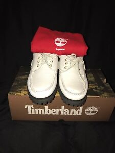 Supreme Timberland White Loafers