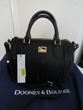NWT DOONEY & BOURKE LULU ABBY LEATHER SATCHEL BAG BLACK