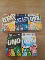 《NEW》Bundle of 5 Mattel UNO 1970' - 2010's Retro Family Card Game Series #1 - #5