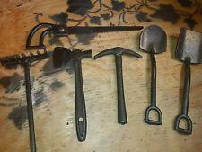 """4"""" Vintage Lot Salesmen's Sample Cast Iron Set of Miniature Tools"""