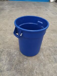 Carlisle Round Waste Bin Trash container 20 gallon Blue - 45cmx57cm (9)