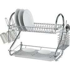Prima 2 Tier Stainless Steel Chrome Dish Drainer