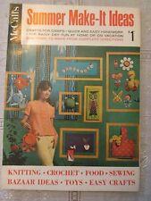 Vintage 1967 McCall's SUMMER MAKE-IT IDEAS Vol 2 Crafts Crochet Knit Magazine