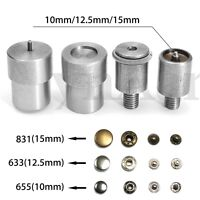 Snap Buttons Dies Mould Set For 655/633/831 Hand Pressing Machine Spare Parts !