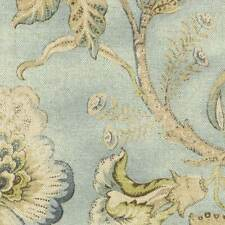 Braemore ODESSA Floral MIST Blue LIme Green Home Decor Drapery Sewing Fabric BTY