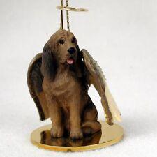 Bloodhound Dog Figurine, Angel Ornament