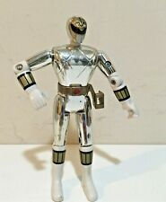 "1995 Bandai Mighty Morphin Power Rangers Silver Ranger 5.5""  Poseable Figure"
