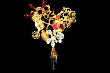 CHRISTIAN LACROIX Bijoux Vintage Huge Jeweled Baroque Heart Brooch